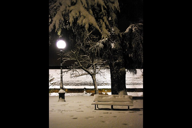 Bench under the snow 1